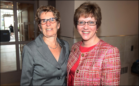 The Honourable Kathleen Wynne, Ontario Minister of Municipal Affairs and Housing and Minister of Aboriginal Affairs; and the Honourable Diane Finley, Minister of Human Resources and Skills Development and Minister responsible for Canada Mortgage and Housing Corporation (CMHC).
