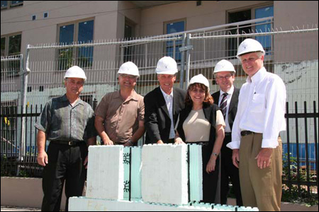 Photo (from left to right): Nathan Hondronicols, President of the Hellenic Community of Hamilton and District; Gary Goodyear, Member of Parliament, Cambridge; Fred Eisenberger, Mayor, City of Hamilton; Judy Marsales, Member of Provincial Parliament, Hamilton West; Chris Murray, Director of Housing, City of Hamilton; Brian McHattie, City Councillor, Hamilton.