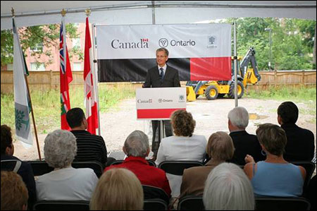 The Honourable Monte Solberg, Minister of Human Resources and Social Development Canada announces almost $79 million in funding to create more than 1,100 new affordable housing units in 29 towns and cities across Ontario under the Canada – Ontario Affordable Housing Program Agreement.